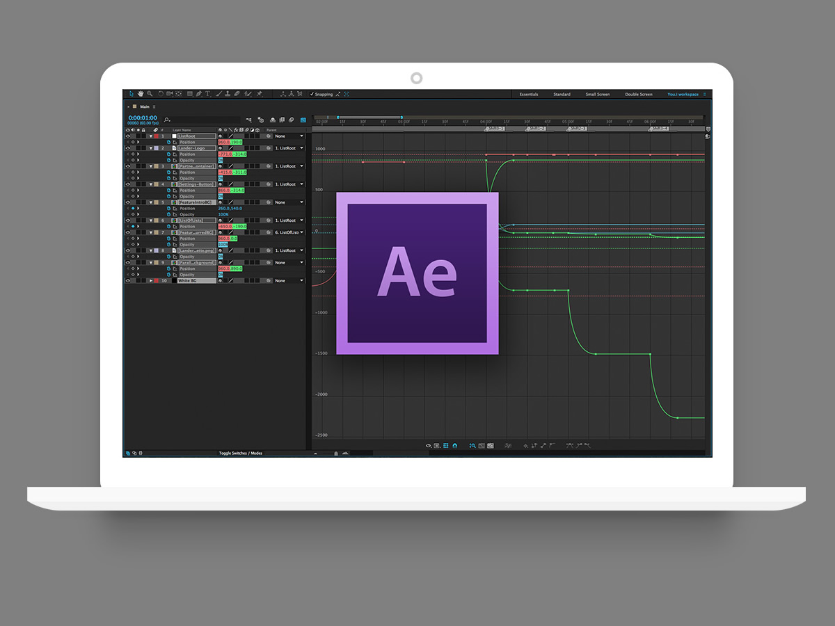 Design & Build the UI in Adobe Suite